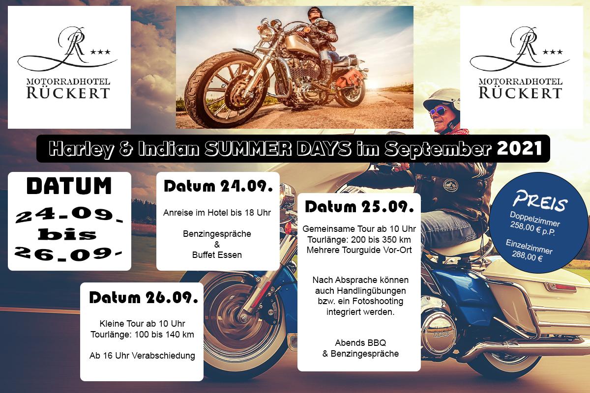 Harley und Indian Summer Days 2021